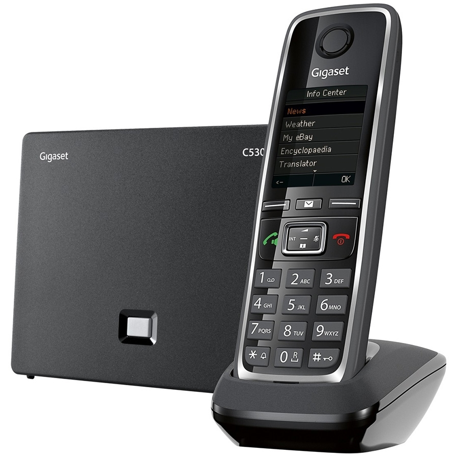 Gigaset C530 Telsiz IP (Dect) Telefon Siyah